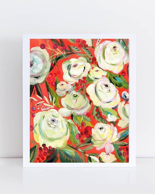 """8"""" x 10"""" print of painting by Bari J. Makes a great wedding gift. Bridal bouquet. Art that makes a great gift. Home decor. Wall art."""