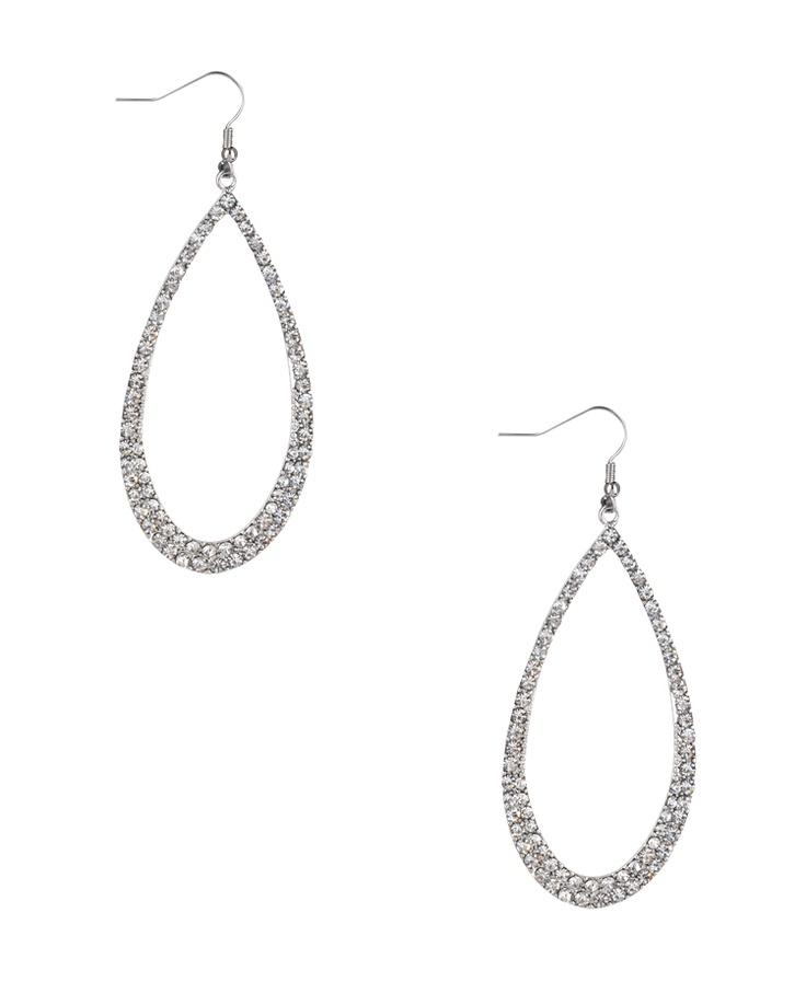 Rhinestoned Teardrop Earrings   FOREVER21 - 1017307465: Cake, Teardrop Earrings, Shops, 1017307465, Rhinestoned Teardrop, Case, Forever21