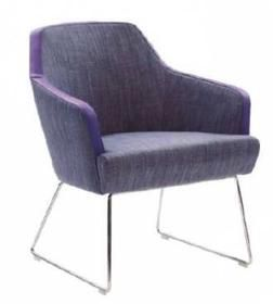 Lucia Compact Club Chair with Wire Base