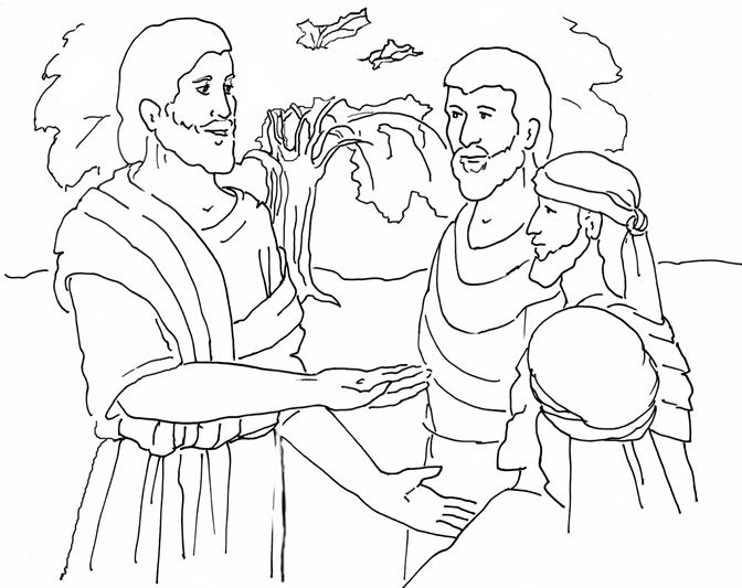 Parable of the Mustard Seed - Coloring Page