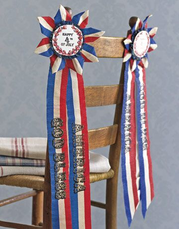 4th of July Crafts - ribbons from crepe paper