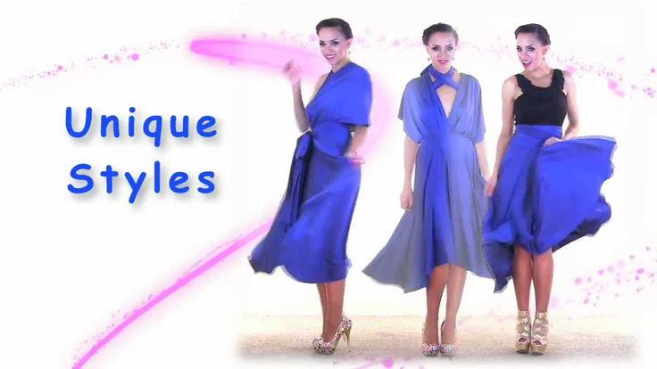 infinity dress:  27 Ways to Wear 1 Dress in 7 Minutes! Convertible Twist Wrap Dress, via YouTube.
