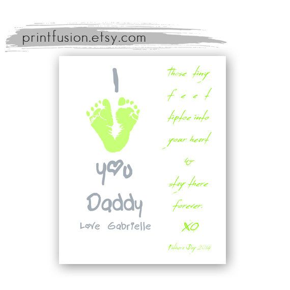 38 best gifts newborn baby for mom dad grandparents images on holiday sale footprint art baby gift father dad by printfusion negle Image collections