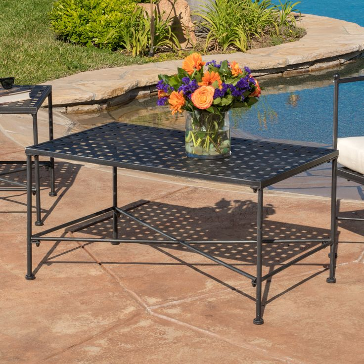Free Shipping. Buy Abilene Black Iron Coffee Table at Walmart.com