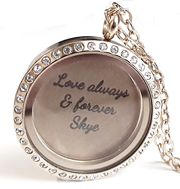 Stunning personalized floating lockets available from Charis Jewelry SA (C) Shop Online at www.charisjewelry.co.za  1-2 day delivery in SA!