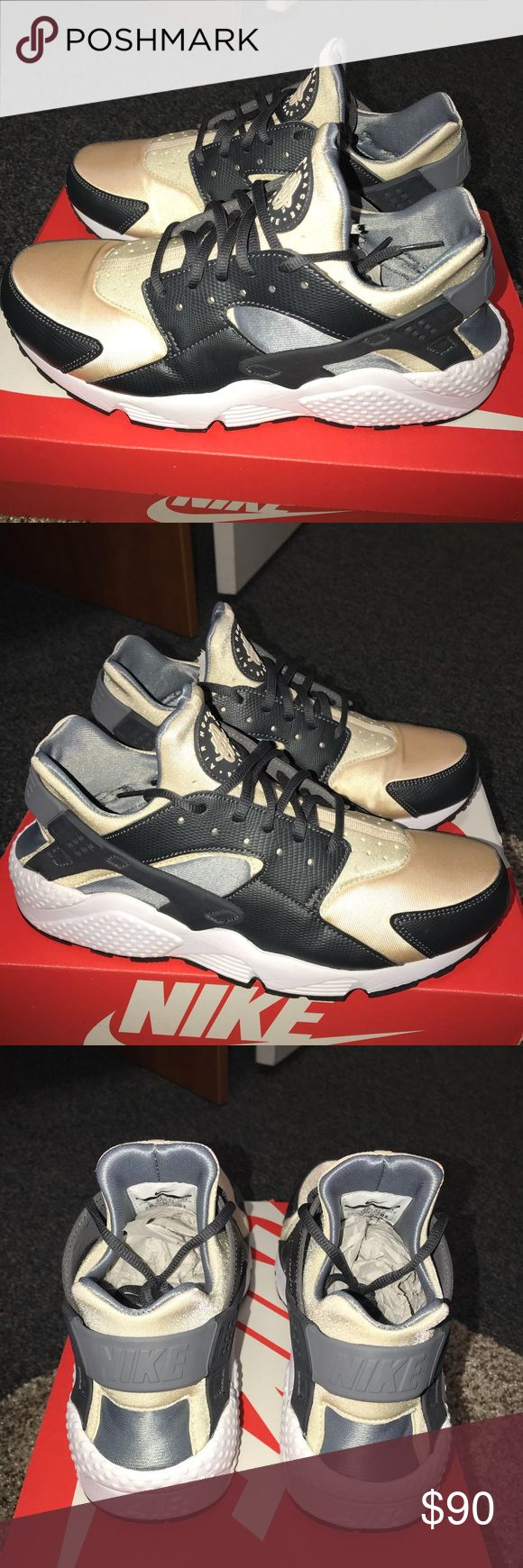 Nike Air Huarache Shoes SIZE: Men's 9.5, Women's 11  COLOR: Anthracite/Oatmeal-Cool Grey  Practically brand new. I work at Hibbett Sports and bought these shoes brand new and ONLY WORE THEM TWICE. No scuffs, creases, or dirt marks on the shoes. Nike Shoes http://feedproxy.google.com/fashionShoes22