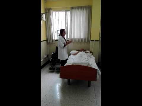 5. Pasar al usuario de la cama a la silla de ruedas con ayudas tecnicas( cinturon y circulo de transferencia)(usuario semidependiente)(1 tecnico)
