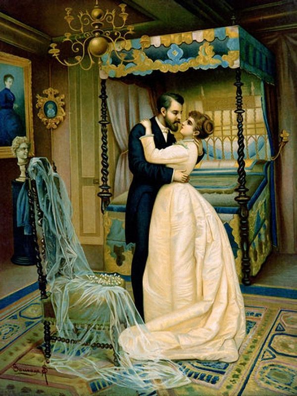 Image result for wedding night  painting
