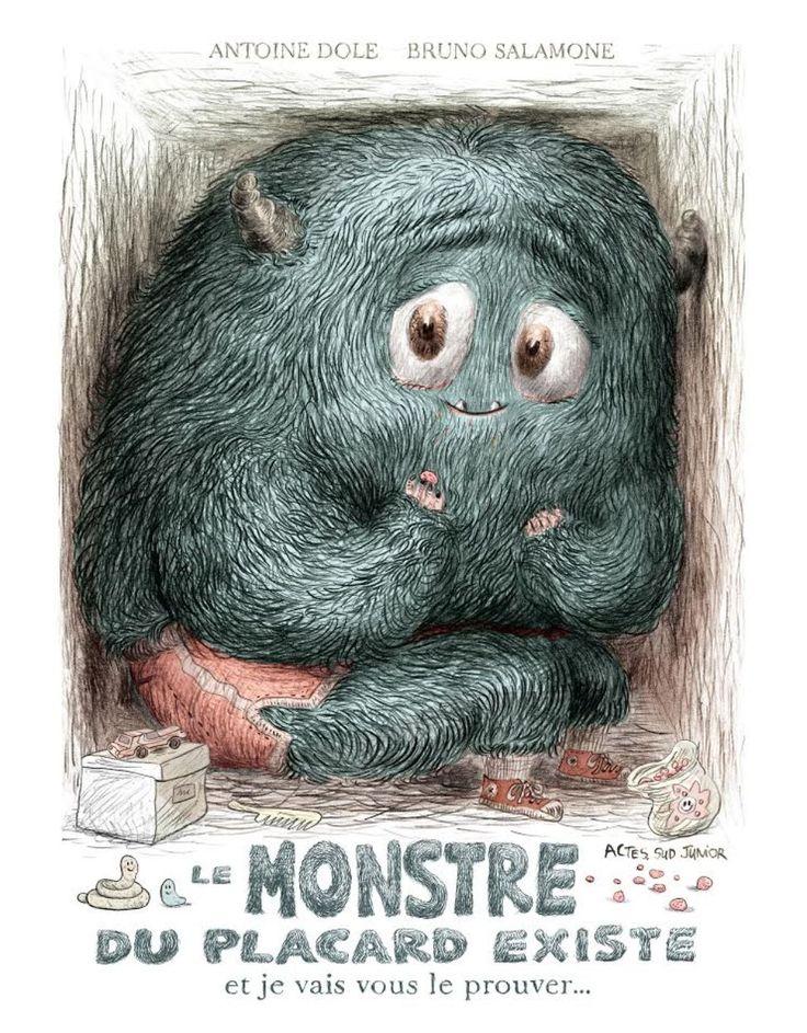 Couverture de «Le monstre du placard existe... et je vais vous le prouver», de Bruno Salamone et Antoine Dole.