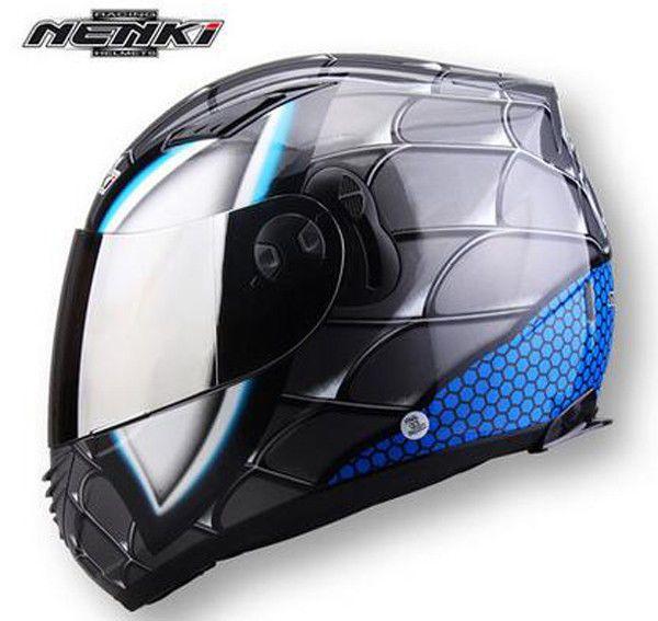 Double Lens Motorcycle Full Face Helmet Spider Man Iron-Man L XL XXL #NENKI