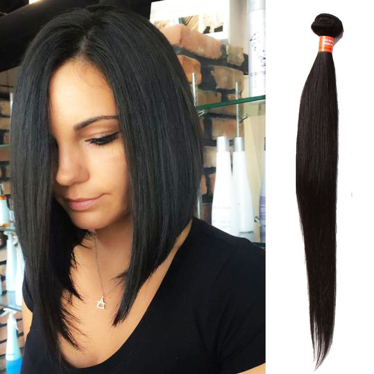 Best 25 real human hair extensions ideas on pinterest micro 100 real human hair extension straight virgin black hair weft 100gbundle pmusecretfo Gallery