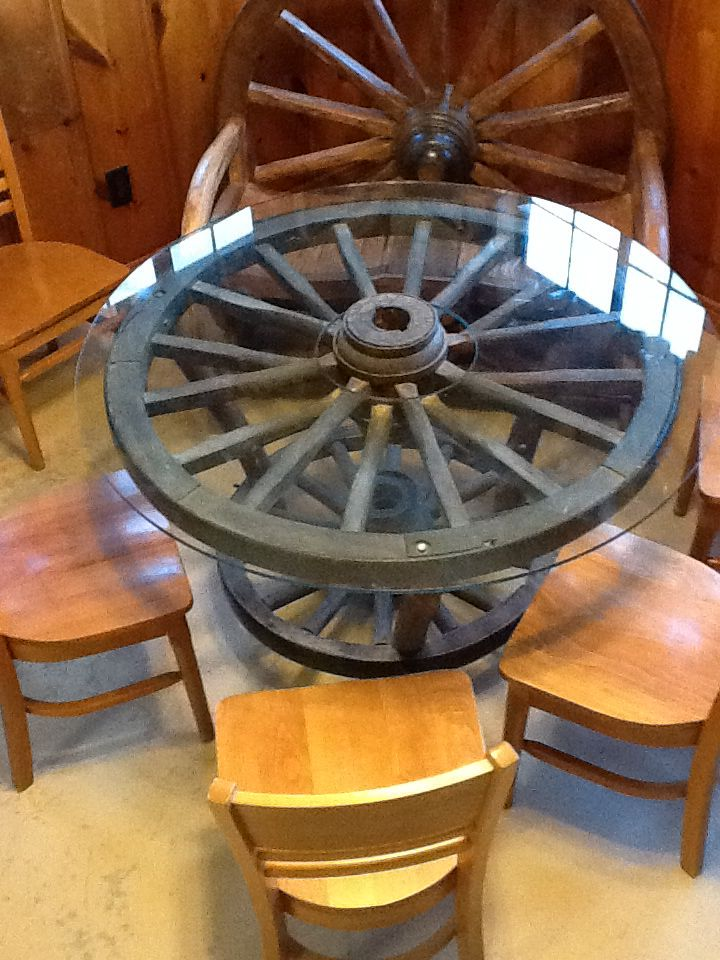 Wagon Wheel Table Tack Room Bunk House Pinterest