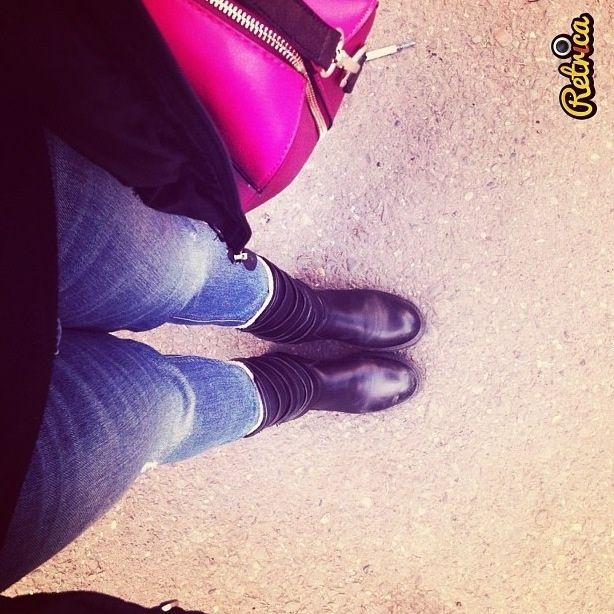 Zara boots zara jeans river iland bag nike outwear