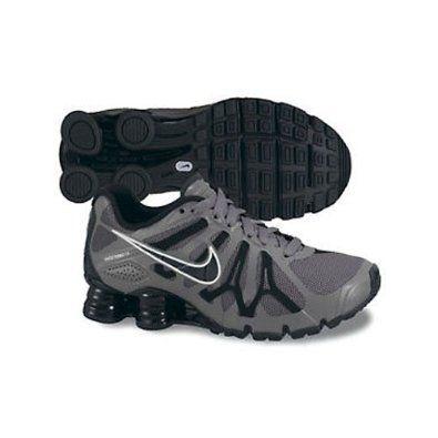 Boys Nike Shox Turbo 13 Running Shoe Cool Grey/Summit White/Black Size 3.5
