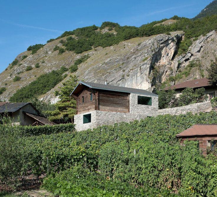 Vineyard Residence | Savioz FabrizziArchitectes – nowoczesna STODOŁA | wnętrza & DESIGN | projekty DOMÓW | dom STODOŁA