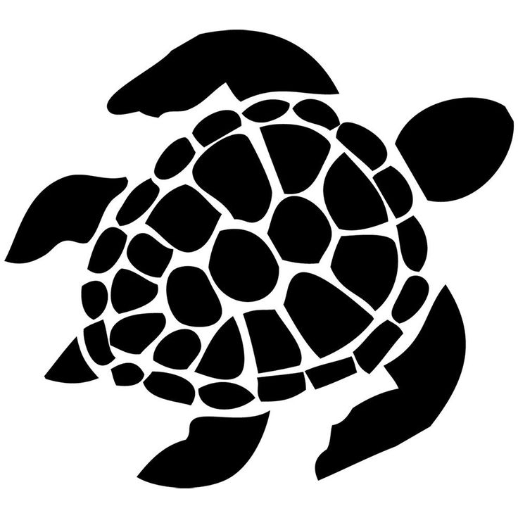 Sea Turtle Die Cut Vinyl Decal PV115
