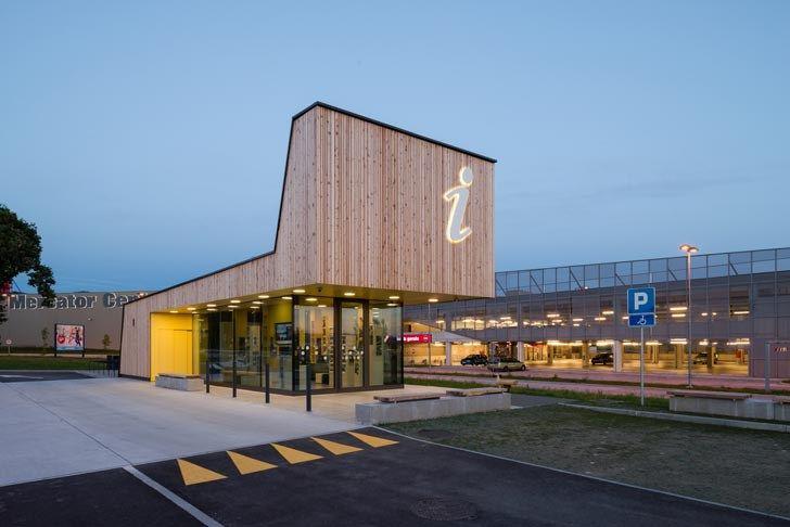Tourist and Tourism Information Center in Postojna, Slovenia