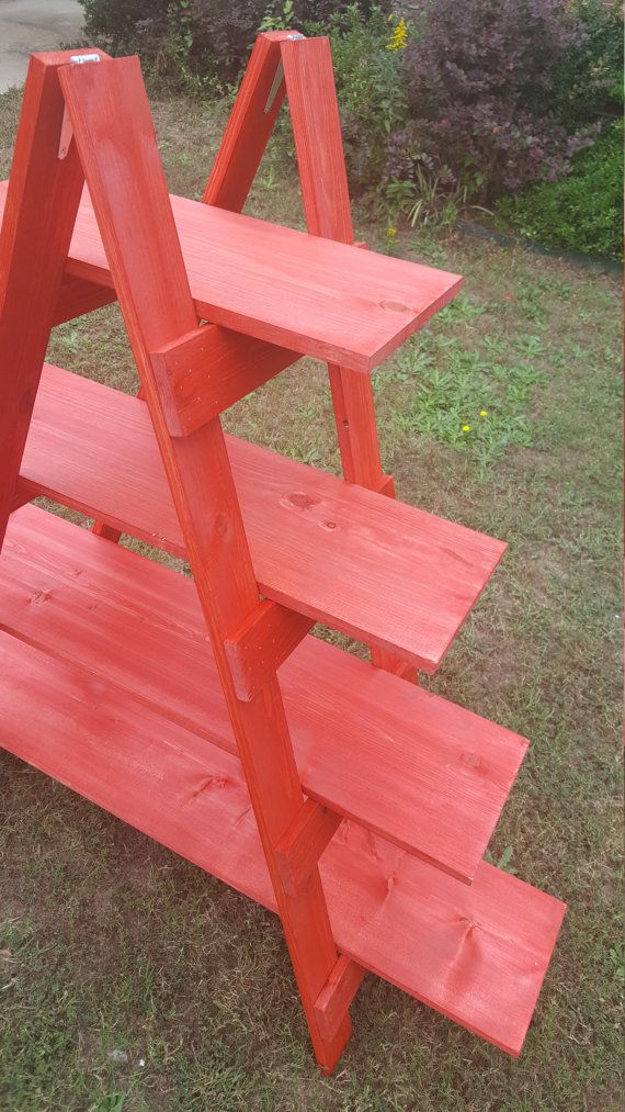 Wooden Ladder Craft Fair Display 5 foot Ladder by WoodLoveForYou