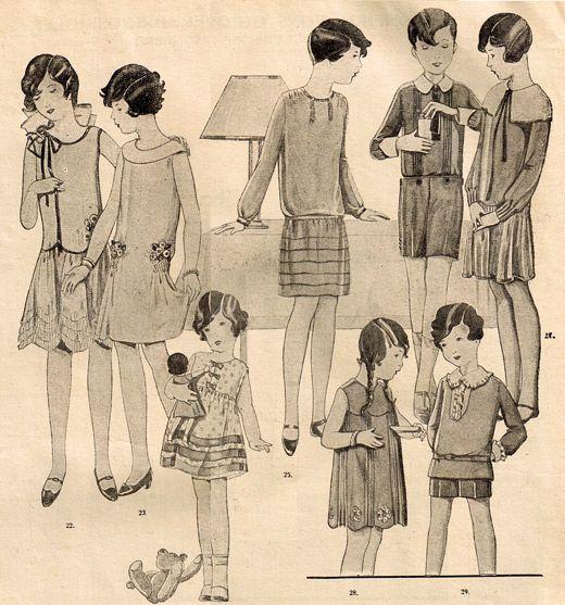 Barnmode. 1928