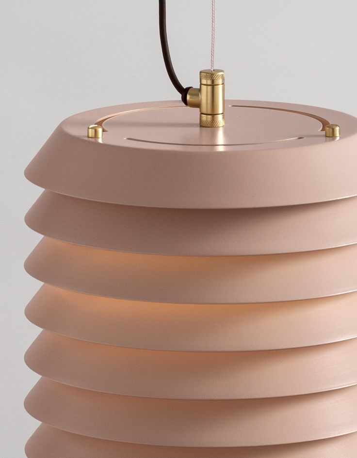 WELCOME TO THE FAMILY.  Detail of the new nude rose colour for the MAIAJ pendant lamp, designed by Ilmari Tapiovaara in 1955 and reedited by @santacole in 2016