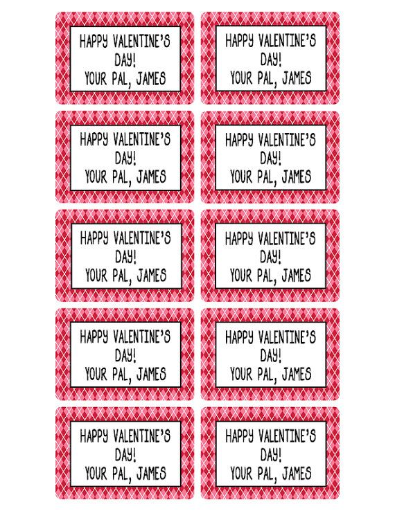 Valentine stickers boys treat bag labels by moonlitprintables