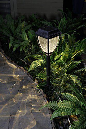 Mejores 81 imgenes de garden lights landscape lighting en grand patio bright warm white led solar path lights wavy style plastic garden lights aloadofball Image collections