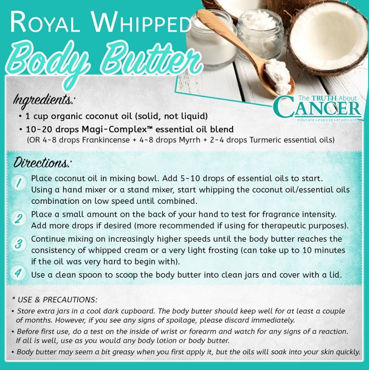 Royal Whipped Body Butter for massaging to combat cancer