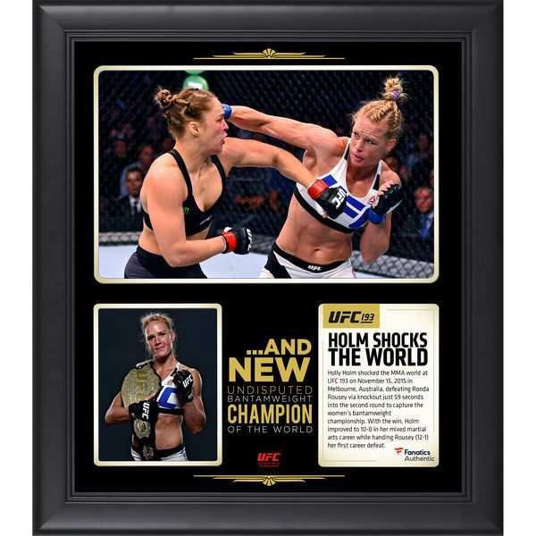 Holly Holm Ultimate Fighting Championship Fanatics Authentic Framed 15'' x 17'' UFC 193 And New Women's Bantamweight Champion Collage - $59.99