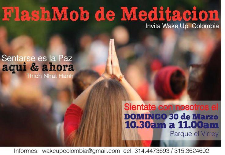 Wake Up Colombia: Flash mob Comparte con nosotros  a generar PAZ en nuestros corazones.