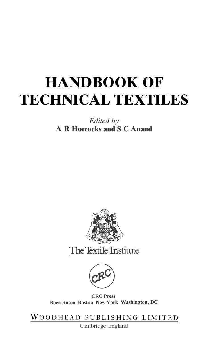 Handbook Of Technical Textiles | READ ONLINE!