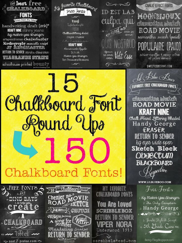 Mega Chalkboard Font Round Up! This is a great Chalk font reference.