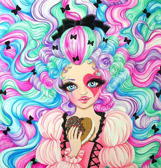 """Beauty"" acrilico su tela di Serena Solange Carluccio #pink"