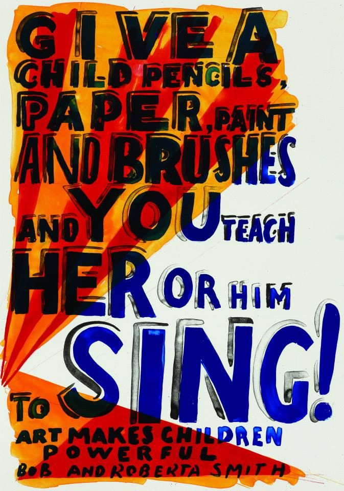 Bob and Roberta Smith, Sing, 2013, lithograph, 710 x 500 mm