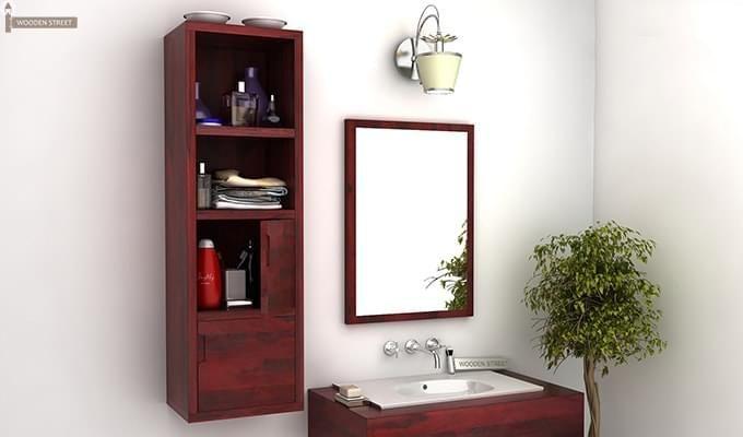 Buy Mcknight Bathroom Cabinet Mahogany Finish Online In India