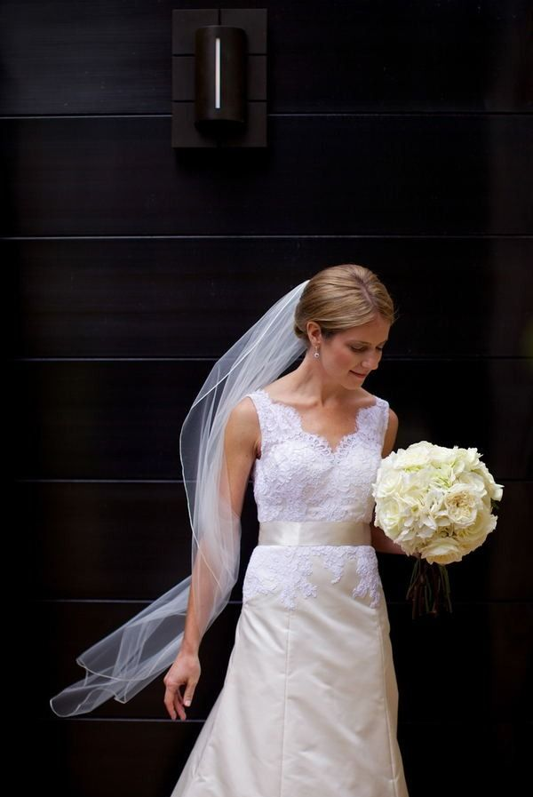Bride Arriving At Church Solo Shot Gown Victoria Nicole Wedding Photography