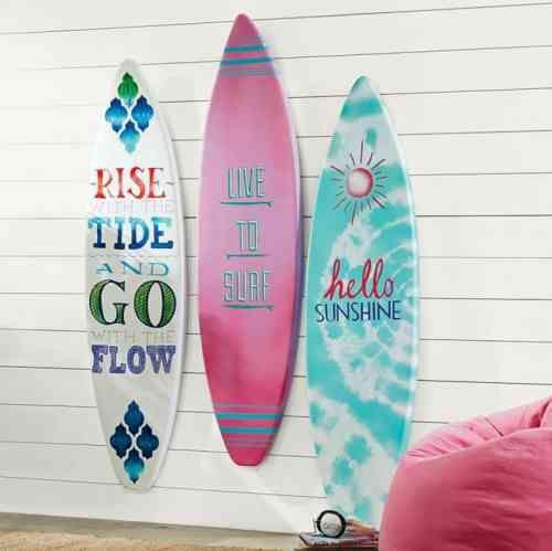 idée de surfs et déco de chambre d'ado