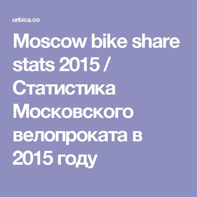 Moscow bike share stats 2015 / Статистика Московского велопроката в 2015 году