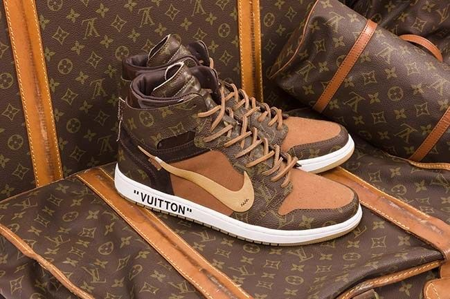 2f79d063bf8 These Louis Vuitton OFF–WHITE x Nike Air Jordan 1s Are Too Dope ...