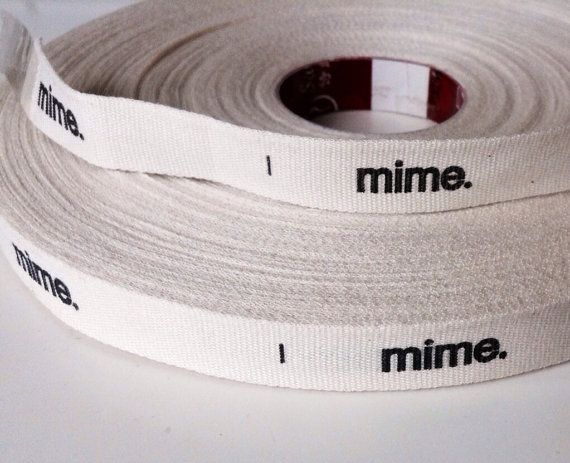200 yards of custom printed woven ribbon, custom printed cloth labels on Etsy, $197.93 AUD