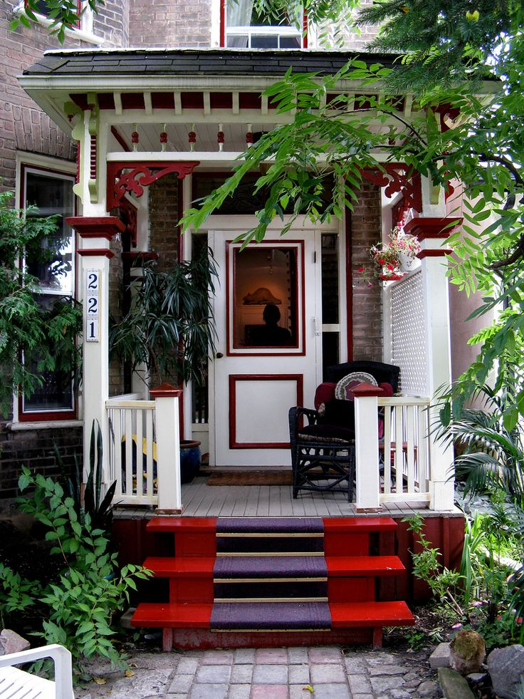 Superior Beautiful Red Front Porch Country Living Mag   Love The Paint On The Steps Good Ideas