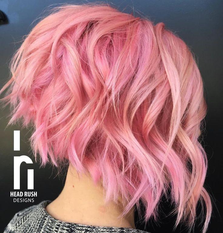 Pink stacked aline bob