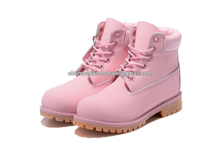 UK Women Baby-Pink Timberland 6 Inch Waterproof Boots\ £ 71.19