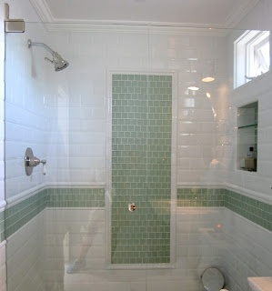 Good design with relatively inexpensive ceramic and glass tiles.