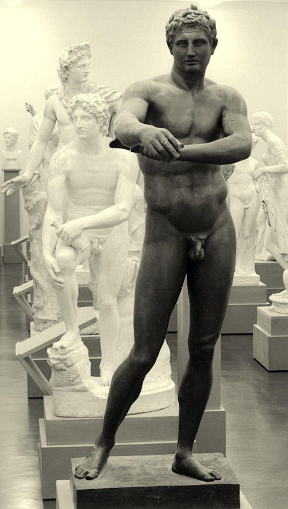Plaster cast gallery, Statue originally by Polykleitos (5th-4th century BCE)