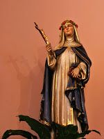 Today with the Saints: August 23: Saint Rose of Lima •Activity: Make ribbon roses and form into a wreath to lay at the feat of a statue of Jesus at your parish.