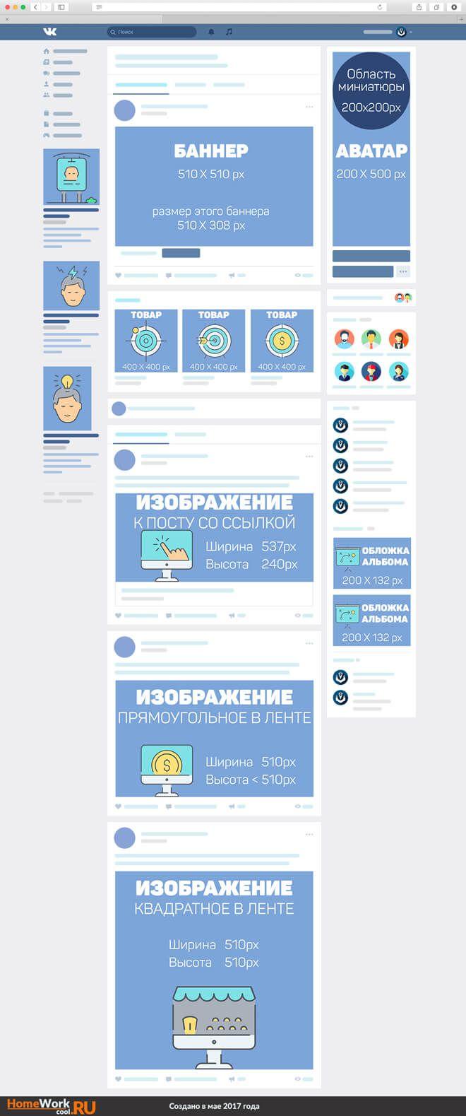 Размеры аватарки и баннера для группы Вконтакте