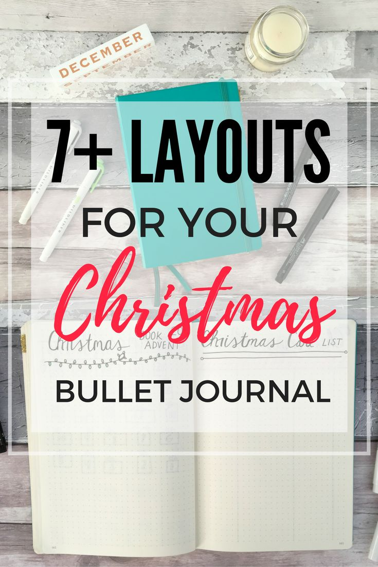 Want to use your bullet journal to get organised for Christmas? Here are 7+ layouts for you to try!