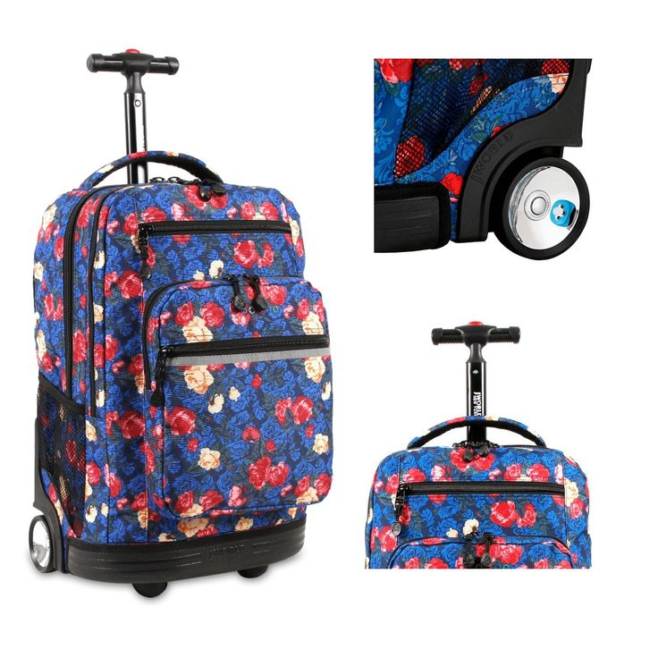 """84.95$  Watch now - http://vitur.justgood.pw/vig/item.php?t=x7rgh657481 - Kids Rolling Backpack Wheeled School Book Bag Travel Carry On Luggage 15"""" Laptop"""