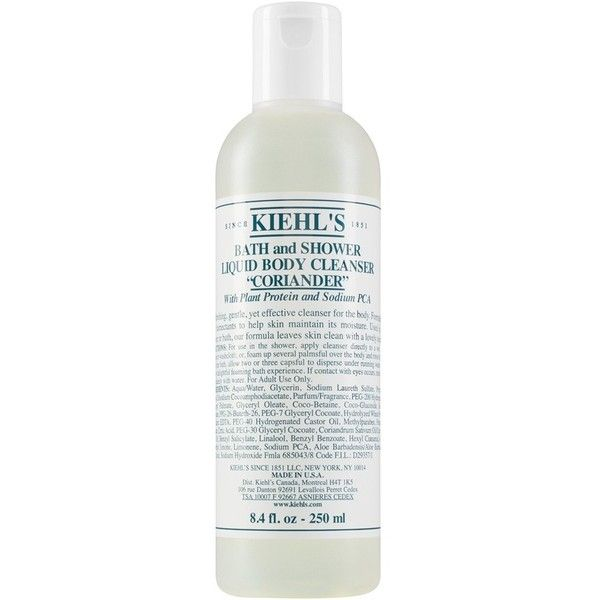 Kiehl's Since 1851 Bath & Shower Liquid Body Cleanser (27 CAD) ❤ liked on Polyvore featuring beauty products, bath & body products, body cleansers and coriander
