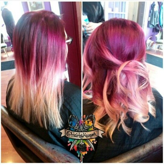 Burgundy Blonde Ombre Dyed Hair Dyed Hair Amp Pastel Hair Pinterest Blonde Ombre Dye Hair